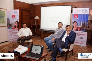 A (Mr. Abhishek Rungta, the Founder and CEO of Indus Net Technologies at the Press Conference for Siddha Waterfront....)