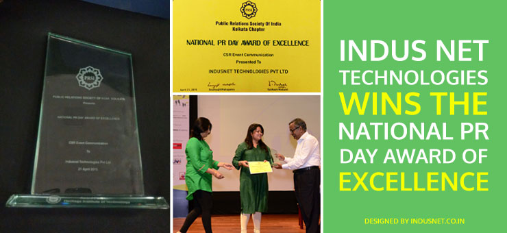 Indus Net Technologies Wins the National PR Day Award of Excellence
